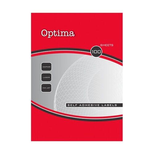 Etikett OPTIMA 32091 70x41mm 2100 címke/doboz 100 ív/doboz