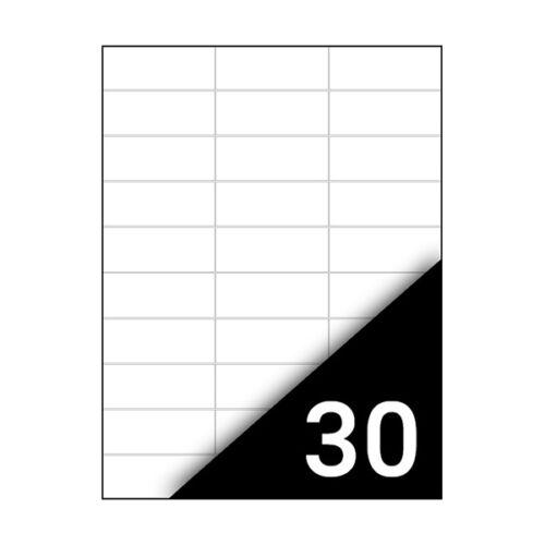 Etikett FORTUNA 70x29,6mm univerzális 3000 címke/doboz 100 ív/doboz