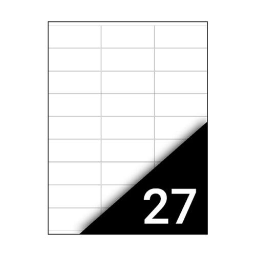 Etikett FORTUNA 70x31mm univerzális 2700 címke/doboz 100 ív/doboz
