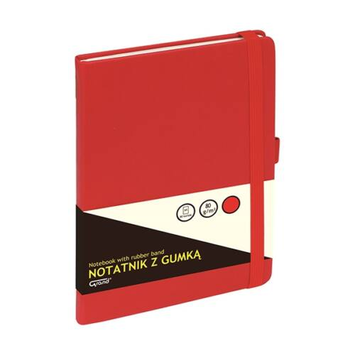 Jegyzetfüzet GRAND A/5 80 lapos puha piros kockás