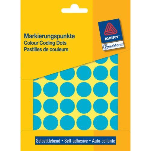 Etikett AVERY 3375 jelölőpont 18mm kék 1056 címke/doboz 22 ív/doboz