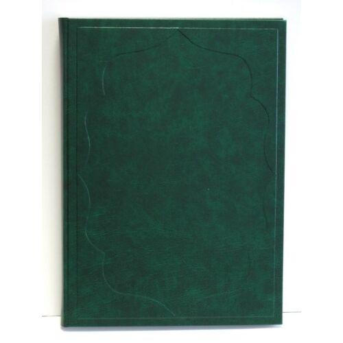 Vendégkönyv A/4 160 lapos sima zöld