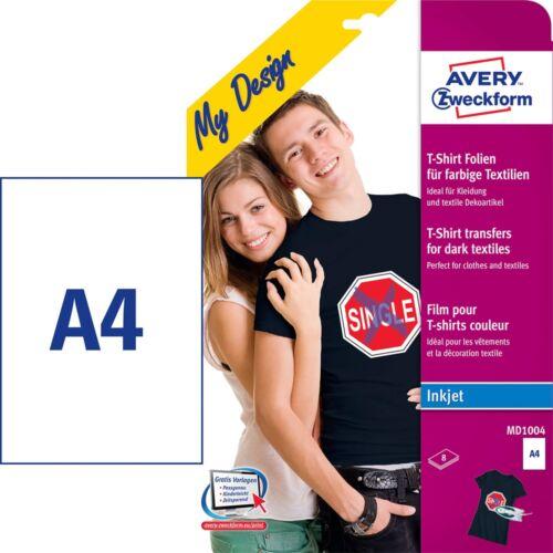Etikett AVERY MD1004 sötét pólóra vasalható  8 ív/csomag