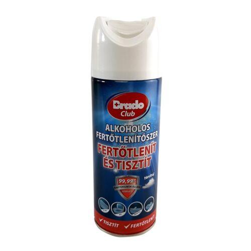 Alkoholos fertőtlenítő hatású  tisztító spray BRADOCLUB 400 ml