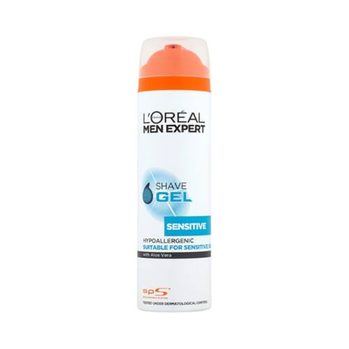 Borotvagél L`OREAL Sensitive 200 ml