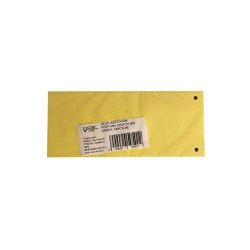 Elválasztócsík FORTUNA 105x235mm sárga 100 db/csomag