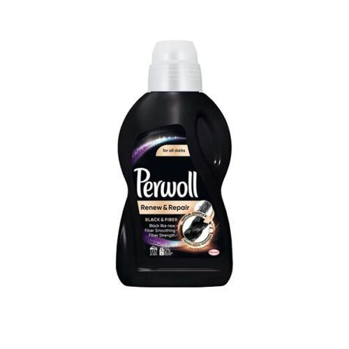 Folyékony mosószer PERWOLL Black & Fiber fekete és sötét ruhákhoz 900 ml