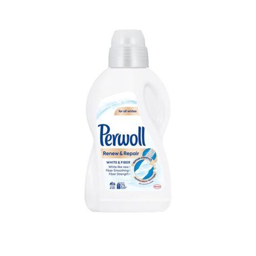 Folyékony mosószer PERWOLL White & Fiber fehér ruhákhoz 900 ml 15 mosás