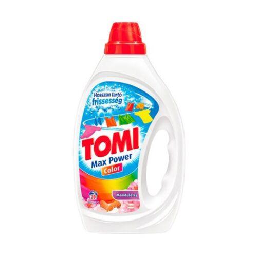 Folyékony mosószer TOMI Max Power színes ruhákhoz mandulatej 2 liter 40 mosás