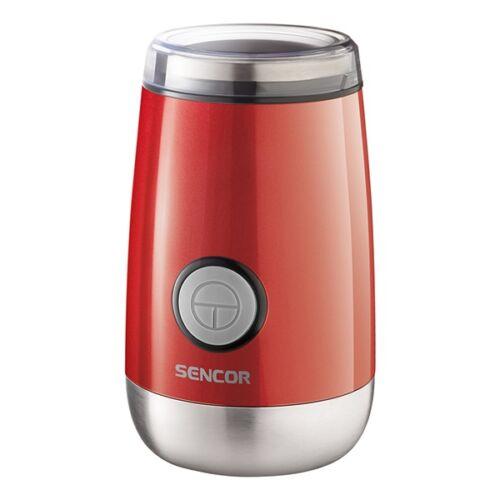 Kávédaráló SENCOR SCG 2050RD 60 g tartállyal piros
